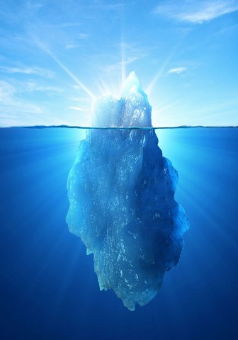 The Deep Web is similar to an iceberg in that it's not visible from the surface.